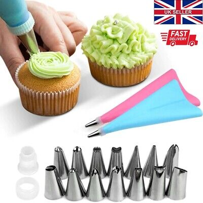 16Pcs/Set Icing Piping Cream Pastry Bag With Steel Nozzles Cake Decorating Kit  • 4.99£
