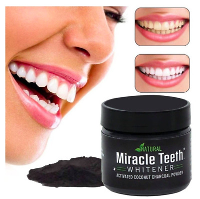 AU14.38 • Buy Miracle Activated Charcoal Teeth Whitener Tooth Whitening Powder Mint Natural