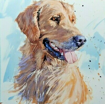 Golden Labrador  Card By St. Ives, Cornwall - Greetings/Birthday Card • 1.90£
