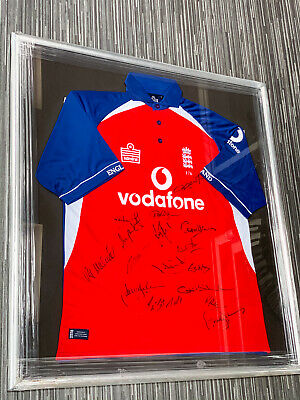 ECB Admiral England Cricket Jersey Shirt - Signed And Framed MUST SEE • 185£