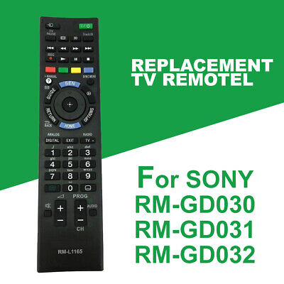 AU10.99 • Buy Replacement Remote Control RM-L1165 For Sony LCD LED TV Bravia RM-YD102 RM-YD103