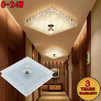 £16.98 • Buy LED Square Crystal Ceiling Down Light Panel Wall Kitchen Bathroom Lamp Light -B