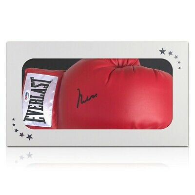 AU4098 • Buy Muhammad Ali Signed Boxing Glove (PSA DNA 3A96849) Gift Box