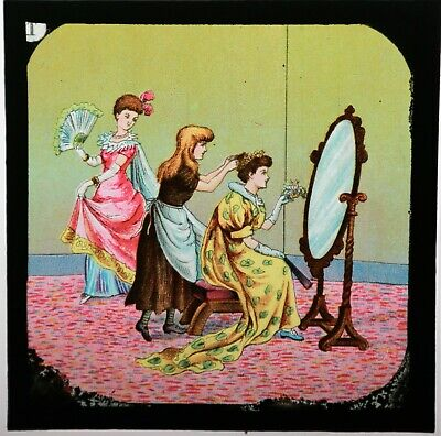 ANTIQUE COLOURED PRIMUS LANTERN SLIDE SET 765  CINDERELLA  BOXED, With Lecture • 45£