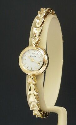 Solid 18ct 18K Gold Omega Backwinder Ladies Cocktail Watch C1951 • 1,550£