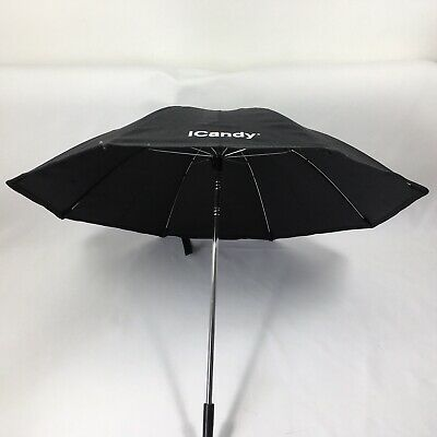 ICandy Peach 3 2 1 Blossom Black Umbrella Parasol With Clamp Clip. • 14.99£