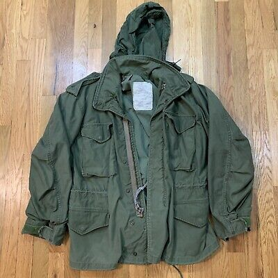 $89.97 • Buy Vintage Distressed M65 Field Jacket US Military Cold Weather Lined Medium Short