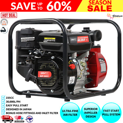 AU228.95 • Buy Fire Fighting Water Transfer Pump Firefighter High Fighter Petrol Irrigation 8hp