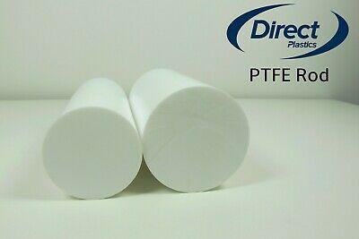PTFE Rod Natural Solid Round Bar - From 4mm Diameter To 100mm Diameter  • 7.68£