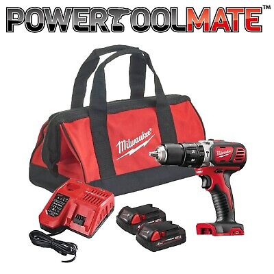 Milwaukee M18BPD-202B Compact Percussion Drill With 2 X 2.0Ah Batteries, Charger • 169.99£