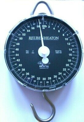 £14.99 • Buy Reuben Heaton Standard Angling Scales -  60lb & 120lb , Pouch Or Weigh Bar