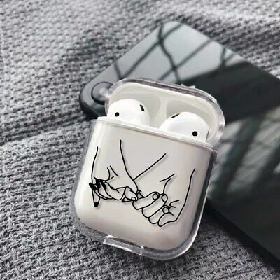 $ CDN8.44 • Buy Love Simple Art Hands Couple Cute Clear Plastic Case Cover For Apple AirPods UK