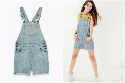 BNWT M&S Pure Cotton  Denim Dungarees Age 6 7 9 10 11 12 13 14 Years      (ST86) • 11.99£