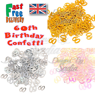 £1.65 • Buy 60th Age Birthday Confetti Scatter Table Party Celebration