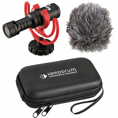 Rode Videomicro Compact Camera Microphone + Keepdrum Soft-Case • 71.12£
