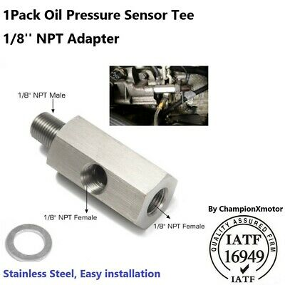 $8.53 • Buy 1/8  NPT Oil Pressure Sensor Tee To NPT Adapter Turbo For Honda Toyota Subaru
