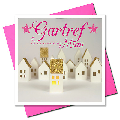 Welsh Mother's Day Card, Sul Y Mamau Hapus, Mam, Home Is Where Mum Is • 3.45£