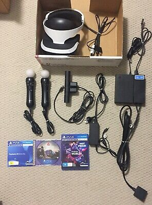 AU375 • Buy Sony PlayStation 4 VR Headset With Camera, 2 Move Controllers And 2 Games
