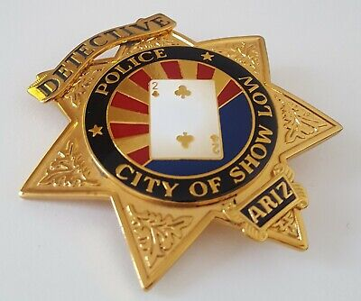 £28.99 • Buy Obsolate Historical Usa Police Badge ...Detective City Of Show Low / ARIZONA