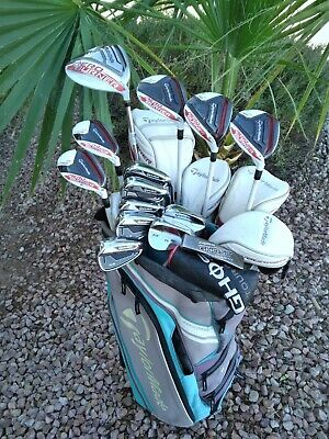 AU1291.59 • Buy WOMENS TaylorMade Complete Golf Club Set - 13pc  + Bag - Ladies Flex Graphite