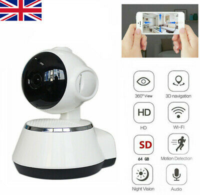 720P HD Wireless IP Camera Home Security WiFi Audio CCTV Camcorder Night Vision • 17.59£