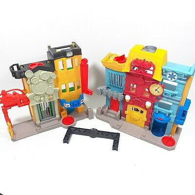 Fisher Price Imaginext Rescue City Light Up Fire Station Sound Effects No Figure • 9.99£