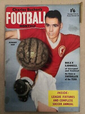 £5 • Buy Charles Buchan's Football Monthly   August 1959 - Billy Liddell  Liverpool