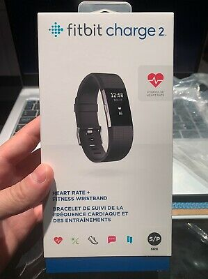 $ CDN100 • Buy Fitbit Charge 2 Heart Rate & Fitness Wristband, Black, Small - Model: FB407SBKS