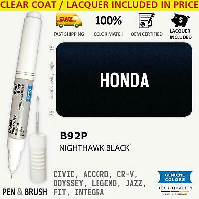 $ CDN15.35 • Buy B92P Black Touch Up Paint For Honda CIVIC ACCORD CR V ODYSSEY LEGEND JAZZ FIT IN