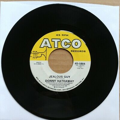 DONNY HATHAWAY Jealous Guy/Giving Up 45 7  SOUL 1972 ATCO Records Vinyl Record • 8.55£