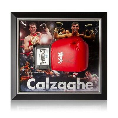 AU794 • Buy Joe Calzaghe Signed Boxing Glove Framed
