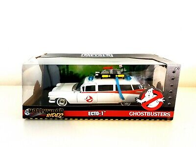Ghostbusters Metals Die Cast Ecto-1 Boxed Hollywood Rides 1/24 Model Car • 39.99£