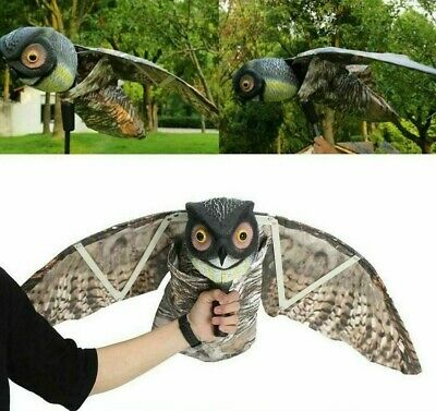 £99.99 • Buy Garden Fake Prowler Owl With Moving Wing Bird Proof Repellent Decoy Pest Scarer