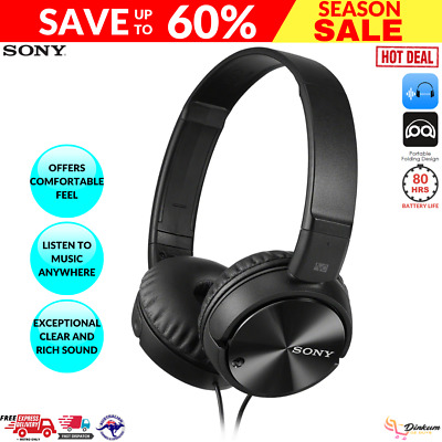 AU62.24 • Buy Sony Noise Cancelling Headphones Excellent Bass Folding Design - MDRZX110NC New
