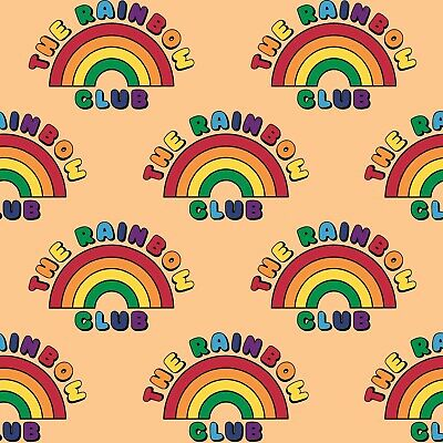 Kids Jersey Fabric, Rainbow Cotton Lycra Baby Material, Knit, Stretch Fabric • 8.50£