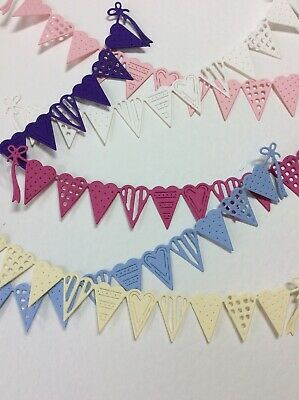 Tattered Lace Die Cut  Bunting For Cards, Scrabooking • 2.10£