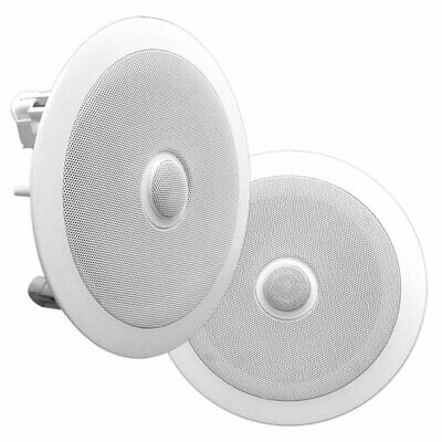 AU125.62 • Buy Pyle Home 8  Pair Of 2-Way In Ceiling Wall HiFi Speakers Flush Mount White