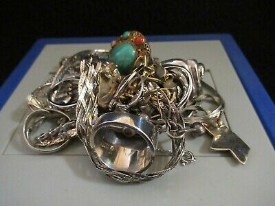 $ CDN374.27 • Buy Vintage Sterling Silver Jewelry Lot RINGS! BRACELETS! EARRINGS! And MORE!