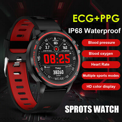 AU48.49 • Buy Microwear L8 Heart Rate Monitor Fitness Waterproof Smart Watch For IOS Android