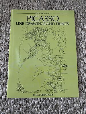 AU10.78 • Buy Dover Art Library Picasso Line Drawings And Prints 44 Illustrations 1981