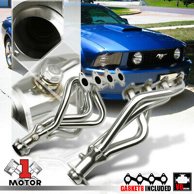 $147.89 • Buy Stainless Steel Long Tube Exhaust Header Manifold For 05-10 Mustang 4.6 281 V8
