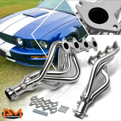 $151.89 • Buy For 05-10 Ford Mustang GT 4.6 V8 Stainless Steel Long Tube Exhaust Header+Gasket