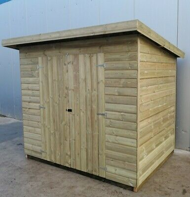 Strong Framed Treated Pent Shed Garden Building T&G Cladding Buy With Confidence • 510£