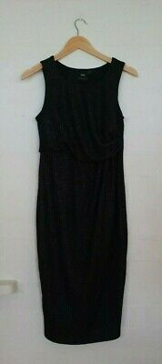 AU22.50 • Buy ASOS MATERNITY Label Womens Black Glitter Sparkly Cocktail Evening Dress Size 10