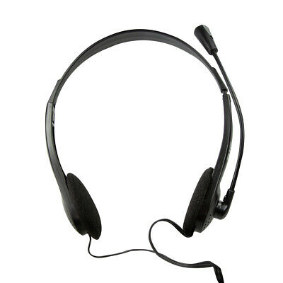 3.5MM Headset Headphones Wired With Microphone MIC For Call PC Computer Laptop • 9.69£