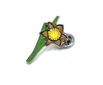 £3.45 • Buy Daffodil Pin Badge Flower Lapel St David  Wales Welsh. March 1st