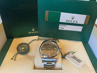 $ CDN9176.32 • Buy Rolex Oyster Perpetual 39 Rhodium Dial, 114300 2020 Full Set W/Box/Papers