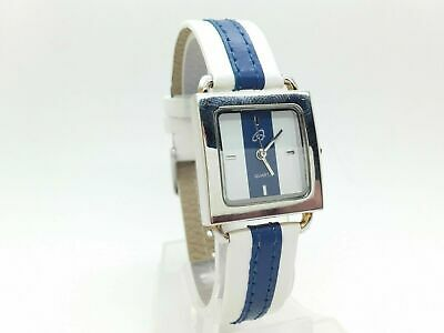 $ CDN32.58 • Buy AURIOL Watch Blue White Striped Dial And Strap Silver Coloured Case New Battery
