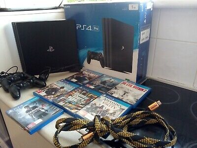 AU365 • Buy PS4 PRO - Sony PlayStation 4 Pro 1TB ~ Black Console ~7 Games, 2 XControllers