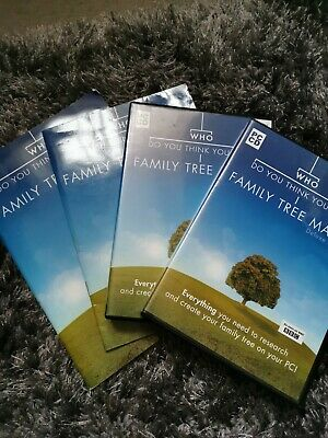Who Do You Think You Are Family Tree Maker Deluxe Edition Pc Cd Software • 5£